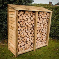 Log Stores - Wooden Log Stores & Garden Storage For Sale in UK Bird Tables, Log Store, Wooden Garden, Scottish Highlands, Outdoor Storage, Firewood, Free Uk, Logs, Garden Ideas