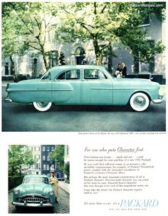 1951 Packard 300 - For one who puts Character first - Original Ad