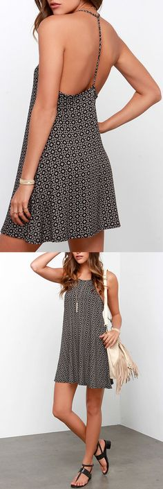 What A Doozy Cream And Black Print Dress - View Them All Here at Best Chic Fashion <3 <3