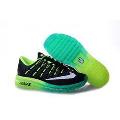 e5bee6a7048b Mens Nike Air Max 2016 Black Green Shoes Cheap Nike Running Shoes