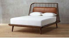 Jarvis bed with leather pad