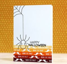 Happy Halloween Card by Laura Bassen for Papertrey Ink (August 2014)