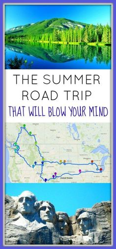 The Summer Road Trip that Will Blow your Mind The Summer Road Trip of a Lifetime. Across 11 US states and 1 Canadian province. Hiking through 11 national parks, this is road trip will blow your mind! Us Road Trip, Family Road Trips, Road Trip Hacks, Family Travel, Summer Road Trips, Family Vacations, Road Trip Outfit, Disney Vacations, Arizona Road Trip