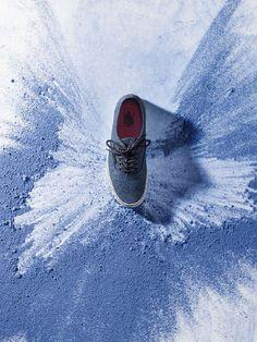 Product photography ideas | Shoe photo flatlay layouts | footwear product image' Powder Paints '