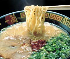 A bowl of ramen from the famous Fukuoka Ichiran Ramen shop