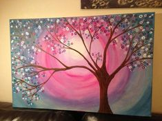 Tree in Time Original, Canvas Painting £60.00