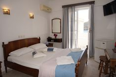 Double Room with Sea View - Adonis Hotel, Apollon, Naxos, Greece! #adonishotel #vacation #greekvacation #islandvacation #greekvacations #islandvacations #greekisland #apollon #apollonvillage #seaview #seaviewroom #naxos #naxosisland #greece #peaceful #relaxing #rejuvenating #aegeansea #sea #apollonbeach #hotelroom #hotel #vacationbythesea #seaview #hotelroom #traditionalhotel #greekhotel #mountain #kalogerosmountain Naxos Greece, Double Room, Mountain, Sea, Traditional, Vacation, Travel, Furniture, Home Decor