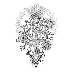 Tree Mandala Tattoo Designs