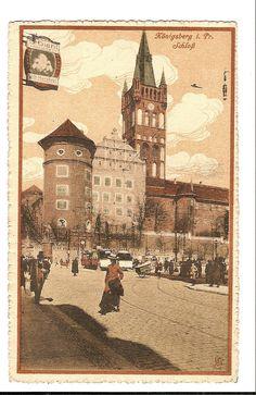 Königsberg mit Straßenbahn 1915