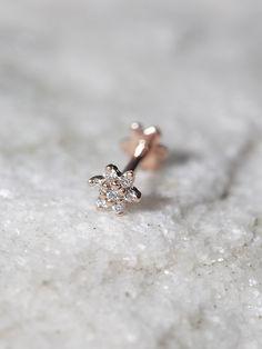 Maria Tash Jewelry Diamond Flower Rook Stud at Free People Clothing Boutique