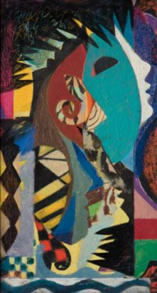 Eileen Agar, Self Portrait, 1938, Oil and mixed media on card|Pallant House Gallery (On Loan from a Private Collection, 2006), © Estate of Eileen Agar