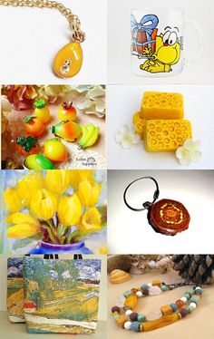 ☺☻☺Yellow collection!!!☺☻☺ by Olga on Etsy--Pinned with TreasuryPin.com
