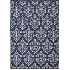 Mohawk Home Indigo Sari Printed Area Rug, Navy - Walmart.com