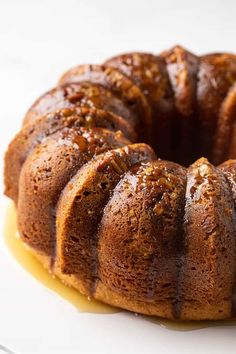 This easy moist and delicious rum cake prepared with a boxed cake mix and topped with a butter rum glaze is a classic holiday dessert! Golden Rum Cake Recipe, Holiday Desserts, Holiday Recipes, Bacardi Rum Cake, Boxed Cake, Vanilla Pudding Mix, Box Cake Mix, Recipe Using, Yummy Cakes