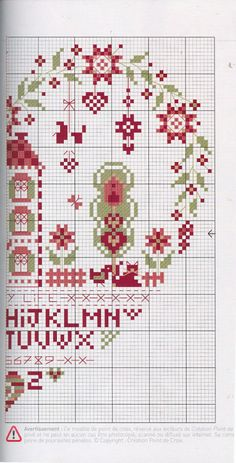 Heart #cross #stitch half 2