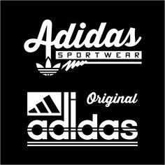 Vintage en 2019 adidas brand, sports logo y lettering design. Nike Logo Vector, Adidas Design, Skate Wear, Arabic Words, Apparel Design, Printed Shirts, Logo Design, Lettering Design, Surf