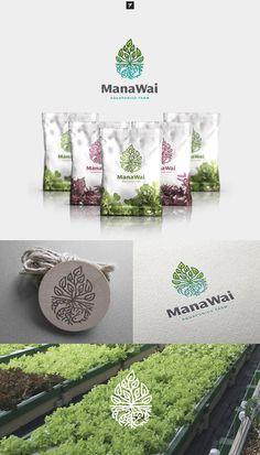 Leafy logo design by sheva™ for a Hawaiian aquaponics company #environmental #natural #branding