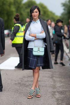 Street Style: London Fashion Week Street Spring 2014  - HarpersBAZAAR.com