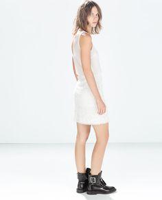 ZARA - NEW THIS WEEK - MIXED FABRICS DRESS