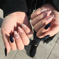 Casual Nails, Edgy Nails, Soft Nails, Grunge Nails, Oval Nails, Stylish Nails, Trendy Nails, Halloween Acrylic Nails, Best Acrylic Nails
