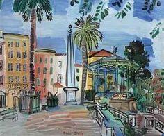 Raoul Dufy (1877-1953) | La place d'Hyères l'obélisque et le ...
