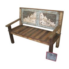 Carved wooden bench...... They have lots of lovely stuff