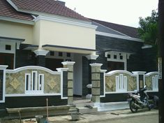 Small House Facade Design - Small House Facade Design , New Interior Home Design S India House Fence Design, Front Wall Design, House Outside Design, Door Gate Design, Entrance Design, Brick Design, Facade Design, Roof Design, Architecture Design