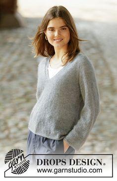 Ravelry: Simply Confident pattern by DROPS design Knitting Blogs, Knitting Patterns Free, Knit Patterns, Free Knitting, Free Pattern, Drops Design, Pull Crochet, Knit Crochet, Drops Kid Silk