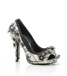 #Printed Pixie Open Toe Pump | Womens Heels | ToryBurch.com