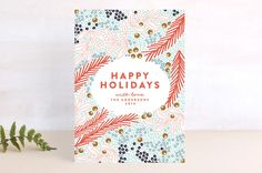 Flourish With Oval Holiday Cards by Phrosne Ras Holidays And Events, Happy Holidays, Christmas Holidays, Christmas Cards, Merry Christmas, Holiday Photo Cards, Flourish, Independence Day, Your Cards