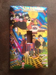 Beatles yellow submarine light switch cover Standard size handmade Great Christmas Gifts, Great Gifts, Beatles Nursery, Yellow Submarine, Retro Aesthetic, Light Switch Covers, Room Themes, The Beatles, Valentine Gifts