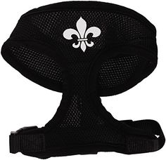 Mirage Pet Products Fleur de Lis Design Soft Mesh Dog Harnesses Small Black *** You can find out more details at the link of the image.