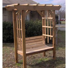 Medium size of home depot pergola steel garden bench with trellis how to build a wood . street pergola with bench Diy Pergola, Cheap Pergola, Pergola Ideas, Arbor Ideas, Patio Ideas, Yard Ideas, Arbor Bench, Wood Arbor, Wood Fences