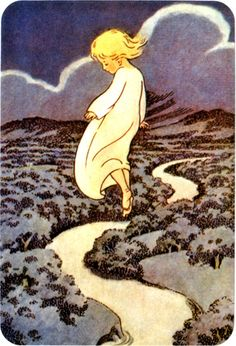 Off to Sleepy Land--W Graham Robertson 1920    From Sweet dreams 36 Bedtime Wishes, Cooper Eden--Chronicle Books