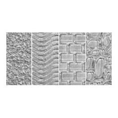 Makins USA Clay Texture Sheets Curly Beard and Fur//Sweater//Diamond 4 Per Package 7-Inch by 5-1//2-Inch M380-5