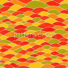 Wavy Toscana by Irina Timofeeva available for download on patterndesigns.com Wave Design, Surface Pattern Design, Vector Pattern, How To Draw Hands, Waves, Patterns, Color, Backgrounds, Block Prints