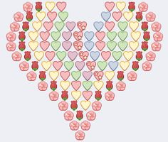 Big Emoji Hearts For Facebook