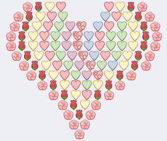 Big Emoji Hearts For Facebook