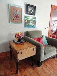 Suitcase - http://www.mrs-adventure.com/2011/10/suitcase-table.html