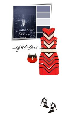 """""""City lights"""" by sophiek82 ❤ liked on Polyvore featuring Balmain and Schutz"""