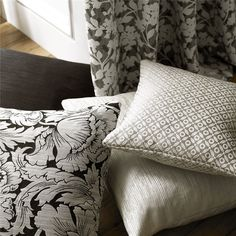 Kensington collection by Ashley Wilde  #charlesparsonsinteriors #fabric #material #curtains #black #grey #ashleywilde
