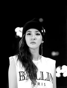 Summer #2: Sandara Park wearing Ballin Paris  The white muscle tee draws attention away from my torso and onto my arms instead. The white keeps the sun away and the looseness keeps me cool.
