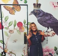 Stylist Kelly Brown traveling in our Jonano Bloom Double Sash Shirtdress.