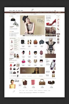 in the F shopping mall website by Ava Choi, via Behance