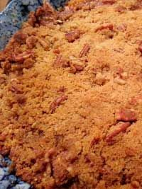 Sweet Potato Crunch Casserole   6-8 sweet potatoes (mashed) ½ stick butter/margarine, melted ½ cup brown sugar ½ cup white sugar ½ teaspoon salt 2 eggs, beaten ½ cup milk ½ teaspoon vanilla   Click Here for the full recipe: http://www.q99fm.com/BreakfastClub/FDT2014.aspx
