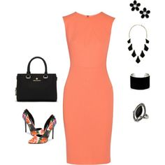 tangerine by stylebykathrynk on Polyvore featuring Roland Mouret, Steve Madden, Vince Camuto, IaM by Ileana Makri, Kendra Scott, MARC BY MARC JACOBS and Topshop