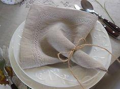 Lovely linen towel by shabby.romantic / Ľanový obrúsok Natural