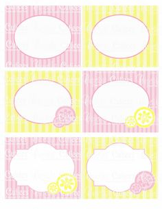 Pink Lemonade  Digital Collage Large  LaBeLs PRINTABLE.