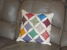 vintage handmade quilted pillow. $15.00, via Etsy.
