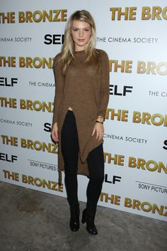 "Amanda Gullickson at the unveiling of ""The Bronze"" movie [Photo: Andrew H.]"